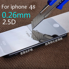 for iphone 5 Ultra Thin HD Clear Explosion-proof Tempered Glass for iphone 5 Screen Protector Cover Guard Film for iPhone 4 5 6