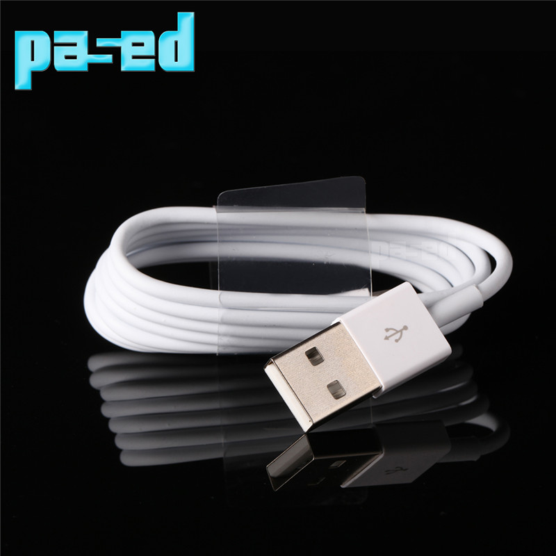 PASED Update 2015 Latest White Wire 8pin USB Date Sync Charging Charger Cable for iPhone 5 5s 6 6 plus iPad fit for ios 8 1M(China (Mainland))