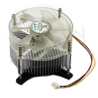 Hot! FREE SHIPPING A90 Transparent Alloy Bearing 3PIN 12V CPU COOL COOLING HEATSINK PC Silent COOLER FAN FOR Intel  1PC#FS041