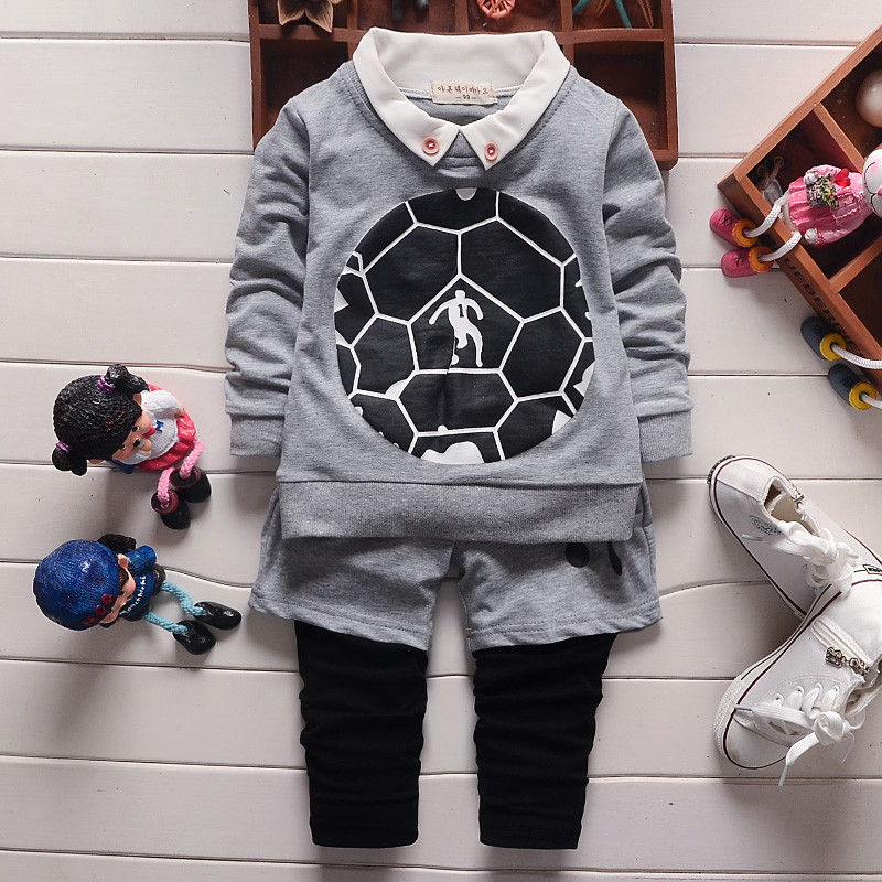 Boys Football Kits Spring Children Soccer Suit Sport Kids Clothing Boy Full Soccer Clothes Autumn Baby Boy Girls Clothing Set(China (Mainland))