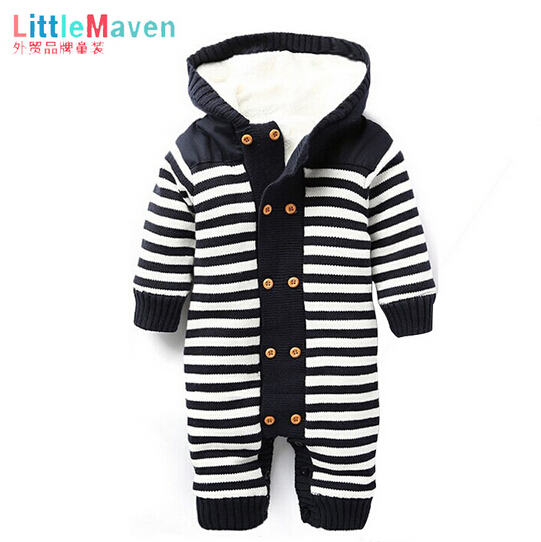 2015 New Original Carter's Baby Romper Carters Baby Boys Girls Long Sleeve Microfleece Add Cotton Jumpsuit Freeshipping(China (Mainland))