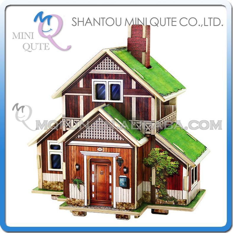 5 шт/много мини совсем 3D деревянные головоломки Норвегия дом сельской архитектуры знаменитое здание взрослой модели образовательные игрушки подарок нет.F119