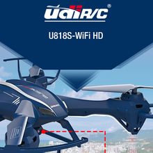UDI U818SW 2.4G 4CH Big RC Quadcopter Drone Helicopter With 5.0MP HD Wifi FPV Camera Can lift  Distance Flying(China (Mainland))