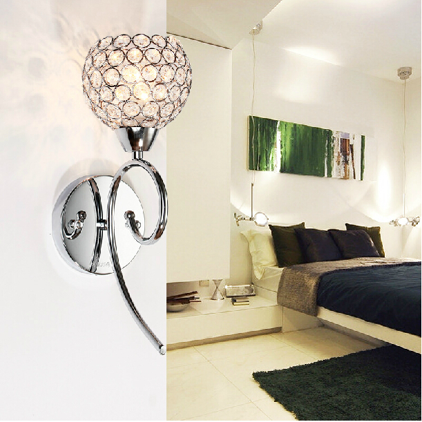 40W crystal wall lamp vintage calssical wall sconce lights home indoor lighting stainless steel E14 Bulbs lamps for home modern<br><br>Aliexpress