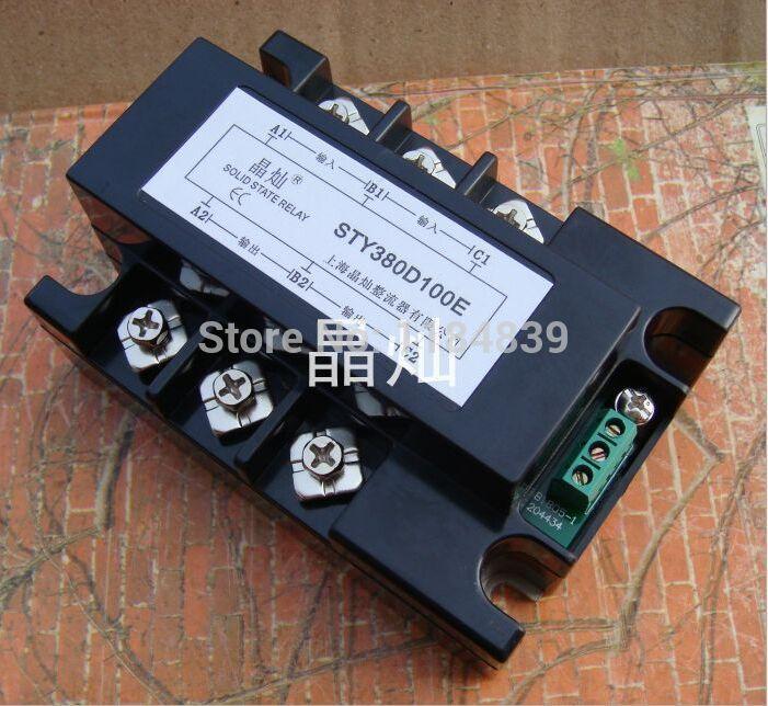 Трехфазные твердотельные реле давления регулятор свинарник-380D100E ССР постоянного тока 100А реле ил