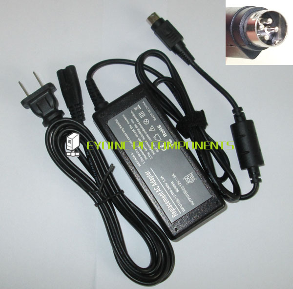 12V 5A 60W 4 Pin AC Power Adapter Charger for Sanyo CLT1554 CLT2054 20 LCD TV