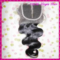 New arrival Filipino body wave lace closure raw virgin hairs material knots not bleached(intact) Middle part thick pack