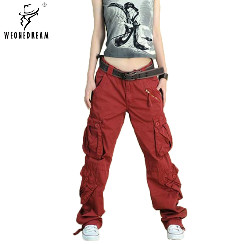 Excellent  Small Straight Baggy Camouflage Camo Pants WomenChina Mainland