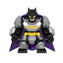 Fim Do Jogo Super Heróis Vingadores Marvel Thanos wielding duplo-espada de lâmina Grande Figuras Presentes Brinquedos de Blocos de Construção Tijolos(China)