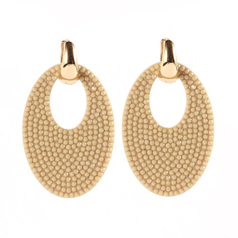 Earrings Beige