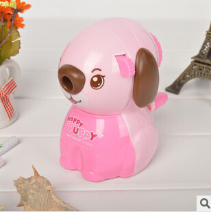 Baisoo stationery supplies colored dog hand machine pencil sharpener mechanical school kids gift 2pc / Oulm