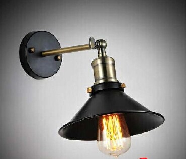 Free shipping Art lighting industrial E27 edison wall lamp vintage black iron finished cage lighting fitting for home decoration(China (Mainland))