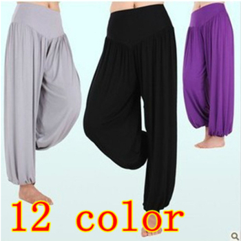 Hot sale S1 High waist New 2014 Women Harem Pants Modal Dancing Trouser Loose plus size sport leggings Free Shipping