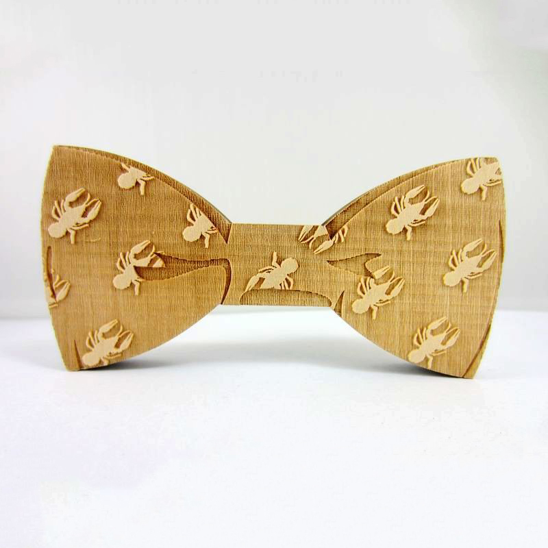 2016 Fashion Creative Animal Pattern Design Wooden Bowknots Bowties for Men's Suit Good Solid Wood Bow Tie Necktie Hot Sale(China (Mainland))