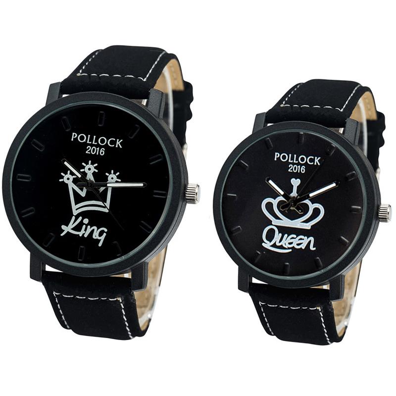 King Queen Watches Women Lovers Watch Men Brand Luxury 2016 Wristwatch Female Male Clock Quartz Wrist Watch Ladies Quartz-watch(China (Mainland))