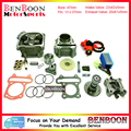 GY6 80cc 47mm Big Valve Cylinder Head Kit with Spark Plug Racing CDI and other accessories