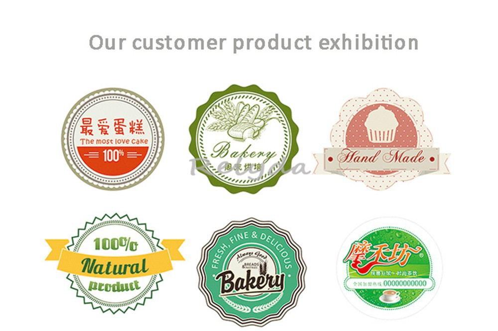 1000pcs Free shipping bakery cookie candy gift tags hand made box paper adhesive labels natural food sealing stickers Dia.30mm(China (Mainland))
