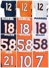 12 Paxton Lynch 18 Peyton Manning 58 Von Miller 10 Emmanuel Sanders 94 DEMARCUS WARE Elite 100% Stitched Elite Jersey(China (Mainland))