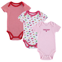 3 Pieces/lot Baby Romper Girl and Boy Short Sleeve Leopard Print Summer Clothing Set for Newborn Next Jumpsuits & Rompers(China (Mainland))