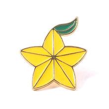 Gioco Kingdom Hearts Sora Keyblade Distintivo Spille Paopu Frutta Smalto Spilli Spilla per Le Donne Degli Uomini del Risvolto Spille Jeans Camicia Gioielli(China)
