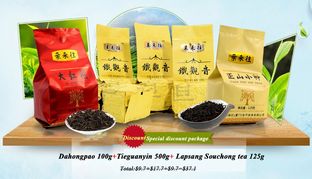 Chinese Tea Package SDTZ,Dahongpao100g OZ04+Tieguanyin 500g OL01+Lapsang Souchong 125g BL02,special discount<br><br>Aliexpress