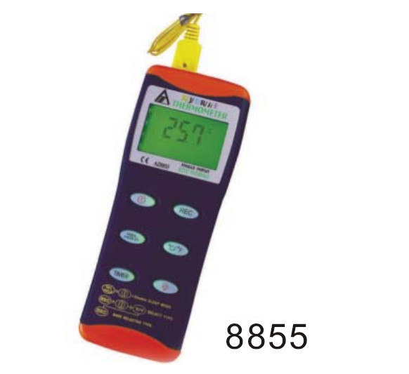 AZ8855 AZ-8855 6-IN-1 K/J/T/R/S/E Digital Thermocouple Thermometer with K type range -200~1370C<br><br>Aliexpress
