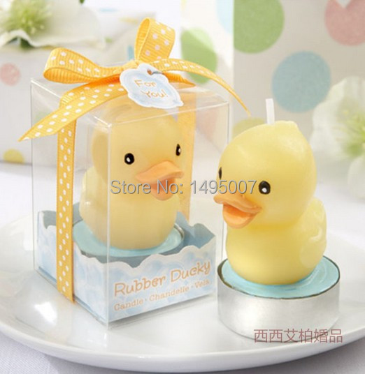Freeshipping Fashion Yello Duck Candle For Wedding Decoration Party Valentine Day Gift Wedding favor and gift box packing(China (Mainland))