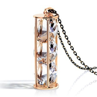 2015 Happy Time Crystal Hourglass Long Necklace Women Pendant Necklaces Trendy Link Chain - lynn's department store (No Minium store)