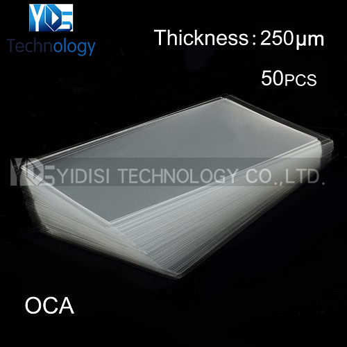 50pcs/lot OCA optical Clear Adhesive For iPhone 5S 5C 5 Double Side Adhesive Tape Sticker 250um For LCD Repair Fix(China (Mainland))