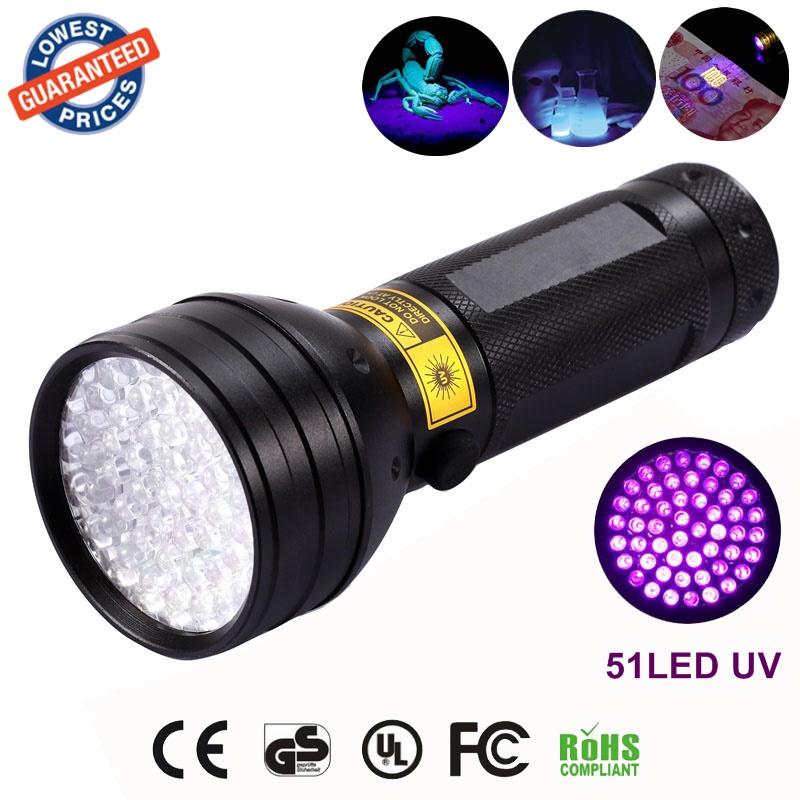 LED flashlight Portable Lighting lanterna led light UV 51LED Flashlight Hunter Finder Torch Indoor Outdoor Lamp lanternas<br><br>Aliexpress
