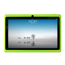 New Cheap Allwinner 7 inch Q88 A33 Quad Core Tablet PC Capacitive Screen Android 4.4 Tablet 512M 4G Dual Camera with Six  Colors