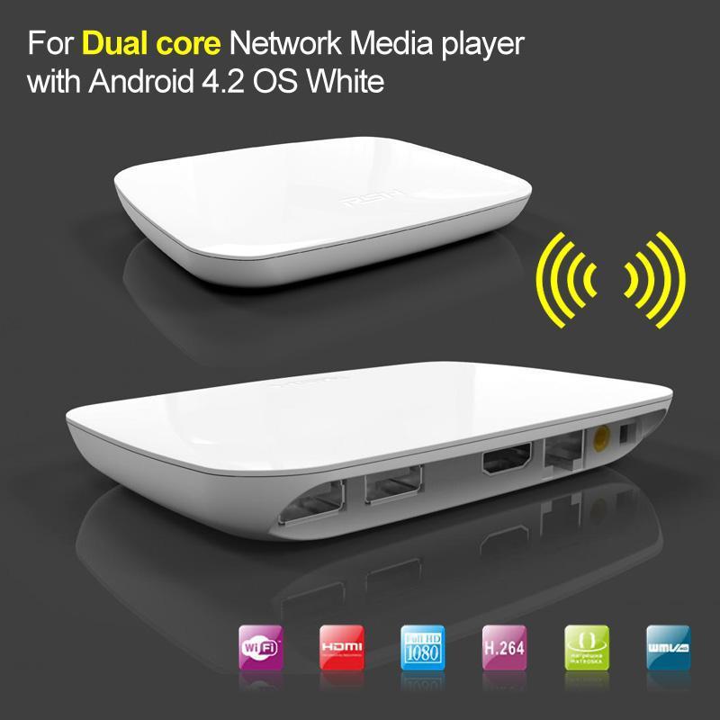 Dual Core Android 4.2 Media Player TV Box 1GB DDR3 RAM 4GB Nandflash Internet Streamer XBMC Youtube White(China (Mainland))