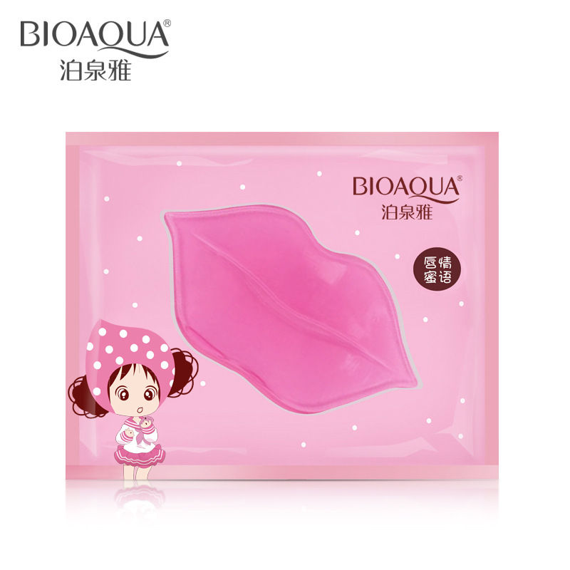 "(5pcs/pack) BIOAQUA Lip Care ""Lassock"" Moisturizing Hydrating Anti-Ageing Anti-drying Whitening Collagen Nutritious Lip Mask"