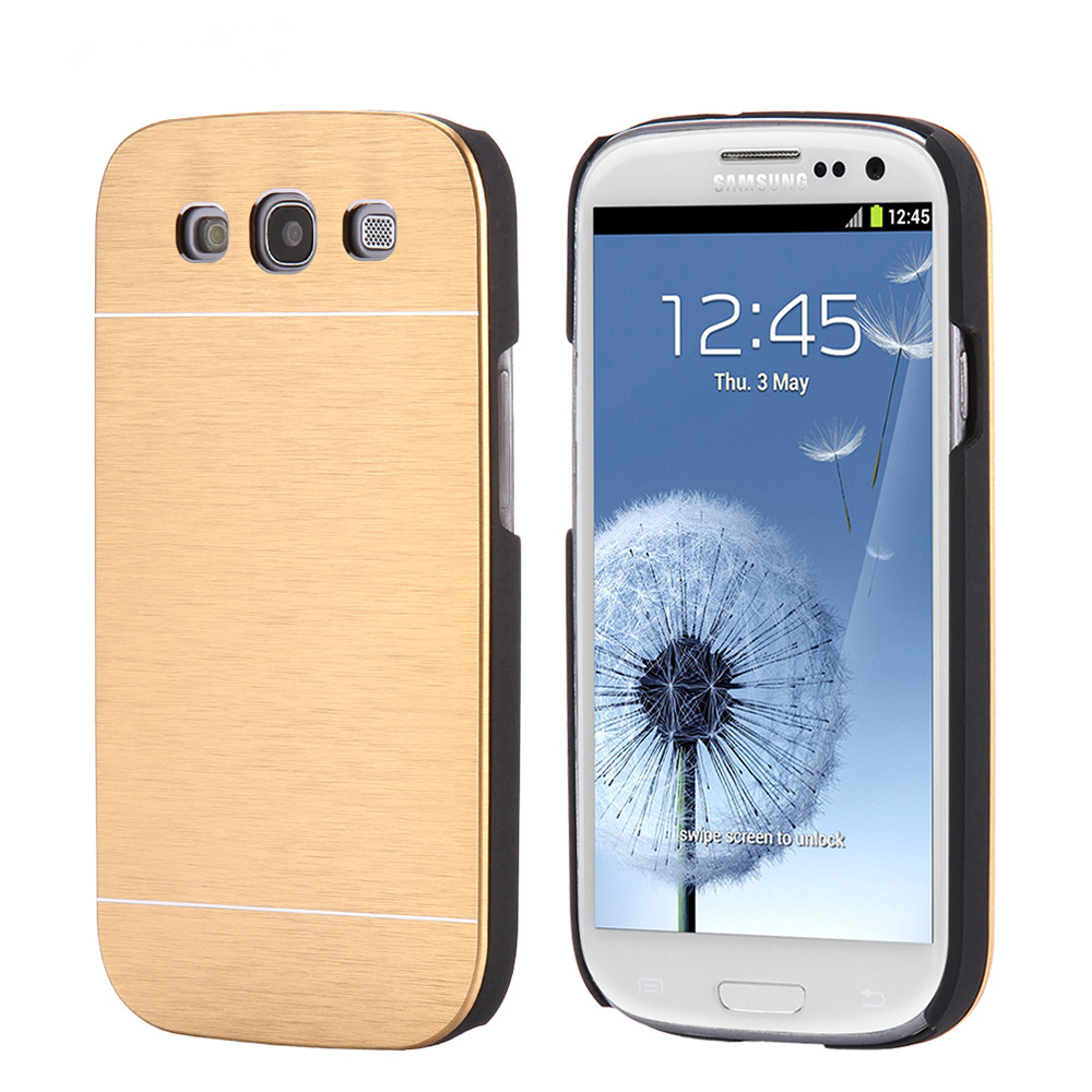 Hard Aluminum Metal Back Cover+Plastic Frame Cases For Samsung Galaxy S3 Protective Armor Back Phone Accessories For Galaxy S3(China (Mainland))