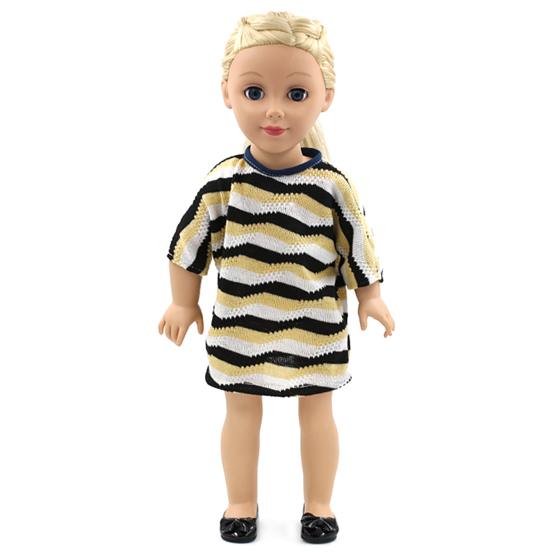 "Wholesale Pink Doll Dress Handmade Doll Clothes Skirt 18"" 18 inch DIY American Girl Doll Accessories For Valentine Gift(China (Mainland))"