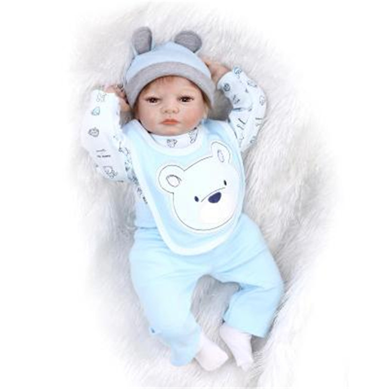 Fashion Reborn Baby Boys Doll Clothes Suit For 50 55cm Boy