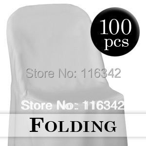 2014 Hot Sale Free Shipping 100pc White Folding Chair Covers Wedding Party Decoration(China (Mainland))