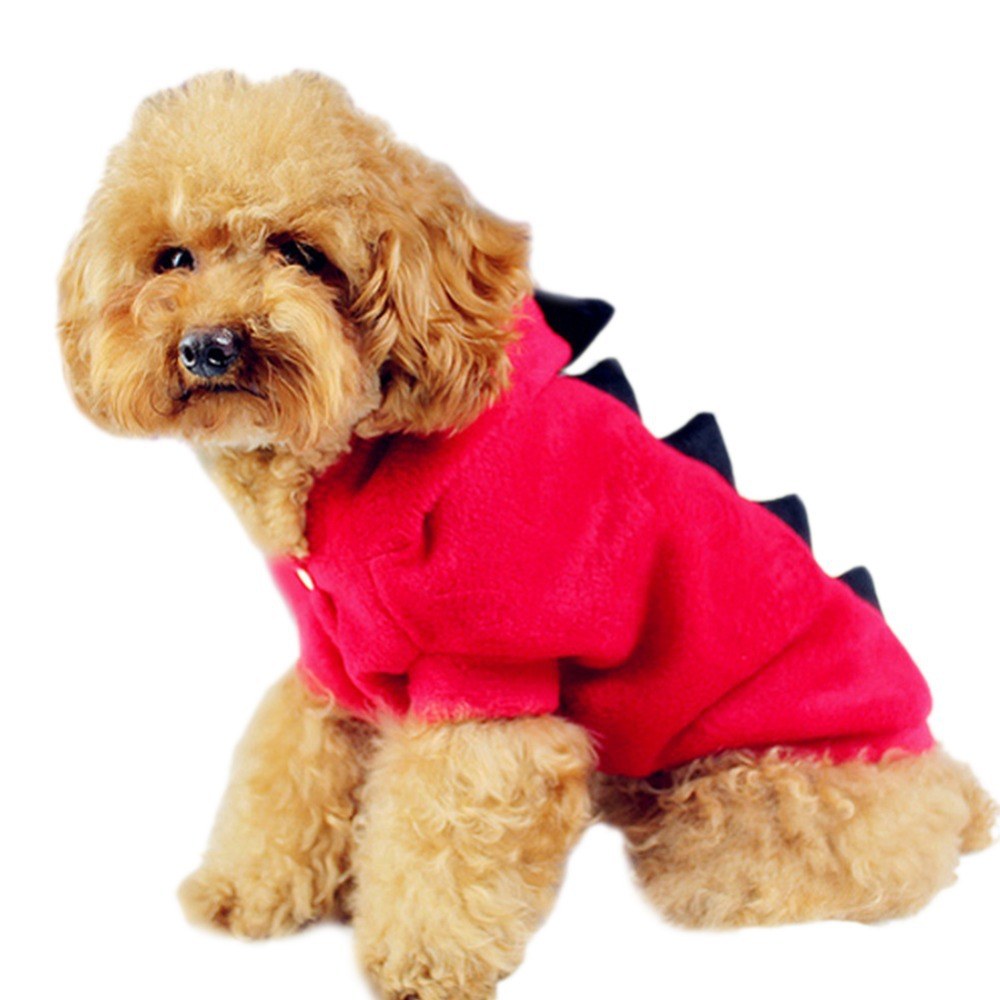 Pet Supplies Dogs Puppy Cat Cute Dinosaur Hoodies Costumes Clothes Apparel(China (Mainland))