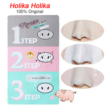 NEW 1pcs Holika Pig Nose Clear Black Head 3 Step Kit Beauty Cleaning Blackhead Acne Remover Cosmetic Accessory  C022