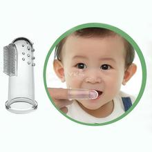 Baby Kid Soft Silicone Finger Toothbrush & Gum Massager Brush Clean Teeth brand new(China (Mainland))