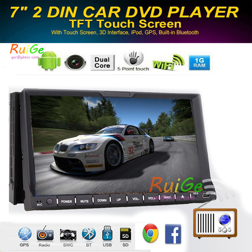 Wireless Reverse Camera+Universal 2 din android 4.2 Car Stereo GPS Navigation HD Capacitive Muilt-Touch Screen Video Audio +BT()