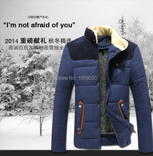 2014 new Arrival men's leisure Cotton clothes Thicken Men's Winter cotton-padded Jacket Autumn Winter Outerwear M-XXXL MY-01