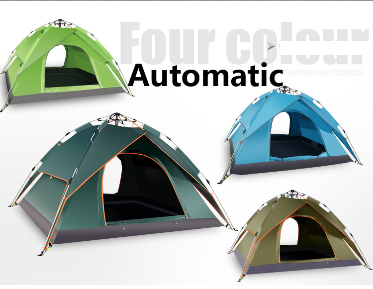 2016 Hot sale 240x210x100cm 4 persons automatic camping tent,outdoor tent,high class tent, one second fast auto tent(China (Mainland))
