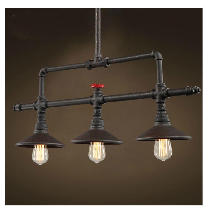 Vintage Pendant Lights E27 Industrial Retro Edison Lamps: American Retro Pulley Wrought Iron Loft Vintage Pendant
