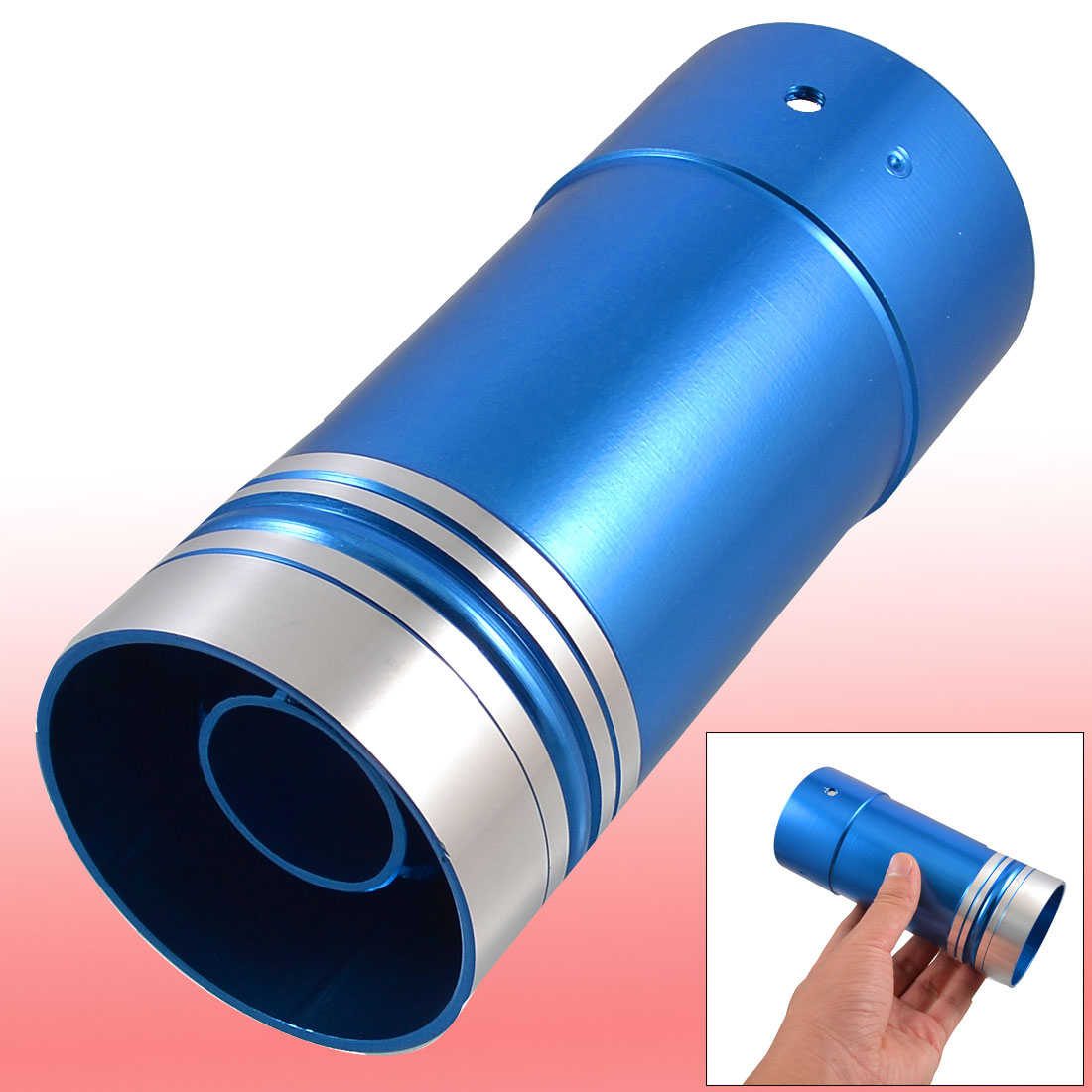 Fit Hole Diameter 62mm / 2.40 inches Universal Car Auto Exhaust Pipe Round Muffler Silencer Tip Blue(China (Mainland))