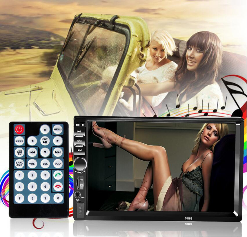2 Din Car DVD Player 7'' HD In Dash Touch Screen radio de coche Bluetooth Car Stereo Radio Player FM/MP5 Car Electronics Car DVD(China (Mainland))