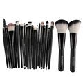 20Pcs Makeup Brushes 2Pcs Big Powder Blush Foundation Brush pincel brochas maquillaje Eye Shadow Eyebrow Makeup