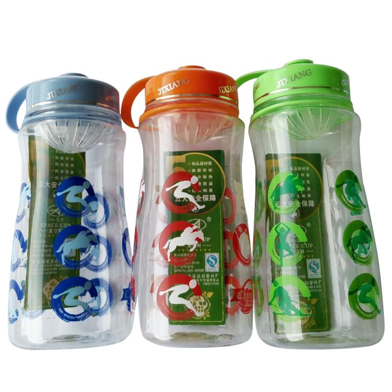 Garrafa de plástico garrafa de água Fruit Infusion água de vibração vibração copo de plástico garrafas de água BPA 980 ml(China (Mainland))