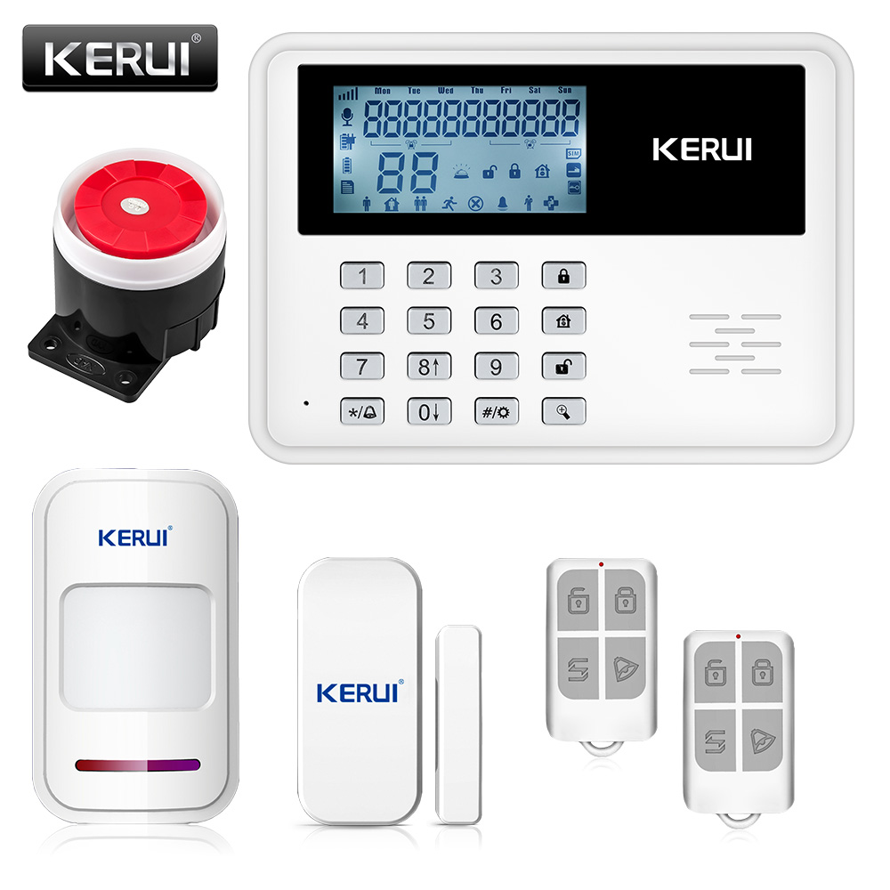 2017 KERUI 5900G intelligent Android IOS app remote control Wireless Home Security SIM SMS GSM Alarm System Kit+large LCD screen(China (Mainland))