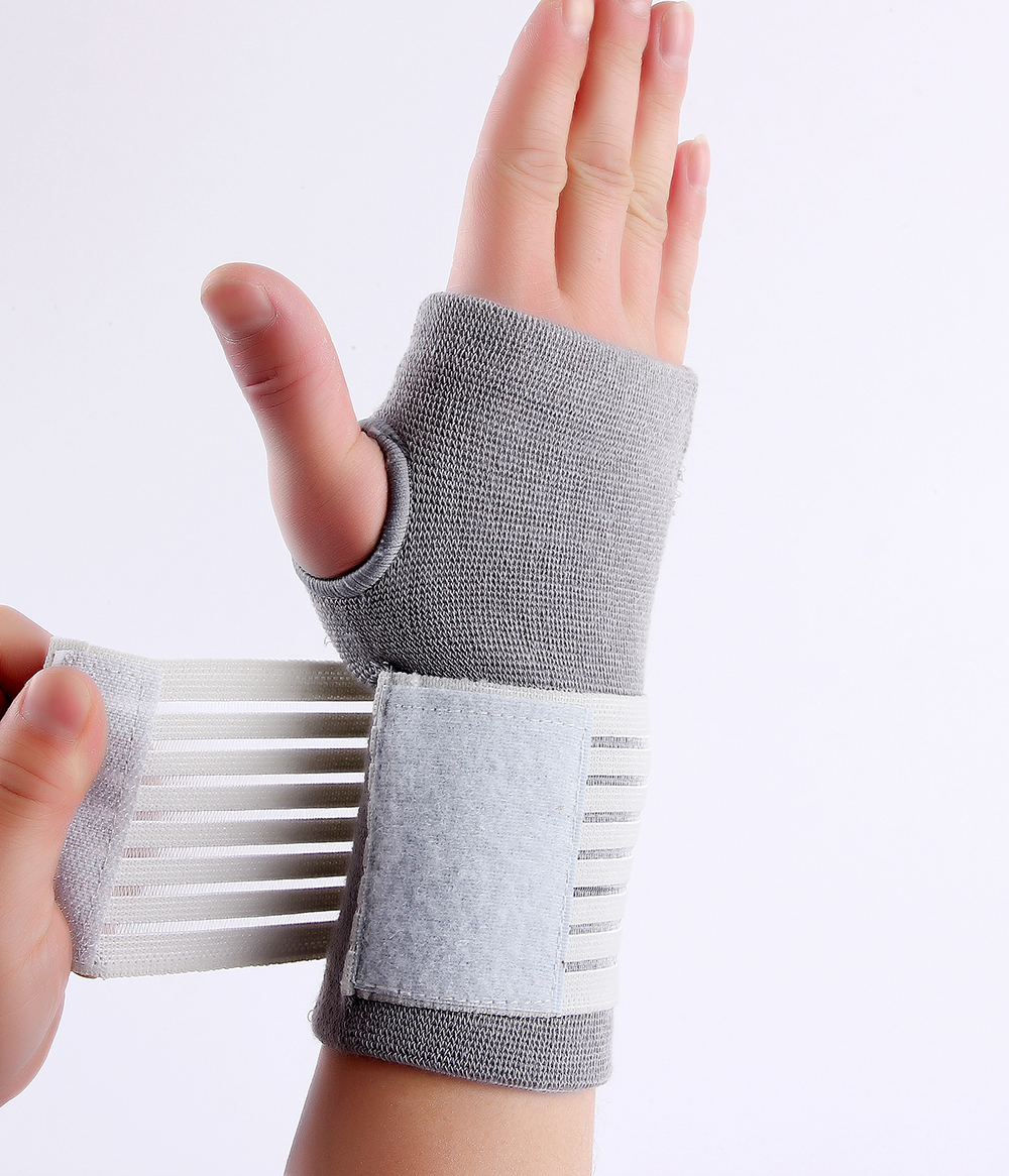 Professional elastic sports safety carpal tunnel tennis wrist bandage brace support free shipping #ST6614